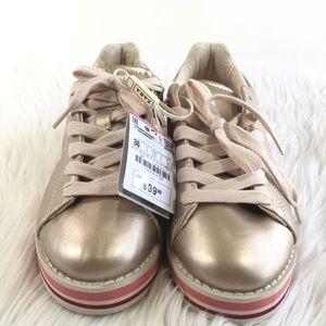 Zara Girl Rose Gold Sneakers